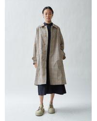 Mackintosh - Checked Twill Rain Coat - Lyst
