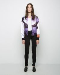 3.1 Phillip Lim - Dropped Shoulder Graffiti Bomber - Lyst