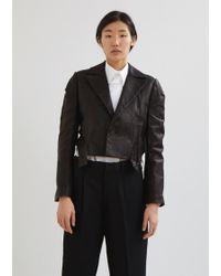 Yohji Yamamoto - Leather Out Stitch Jacket - Lyst