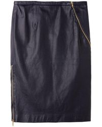 Boy by Band of Outsiders - Leather Zip Skirt - Lyst
