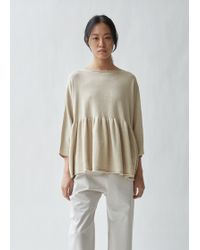 Lauren Manoogian - Tier Pima Cotton And Linen Pullover - Lyst