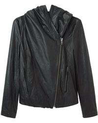 Helmut - Hooded Leather Jacket - Lyst