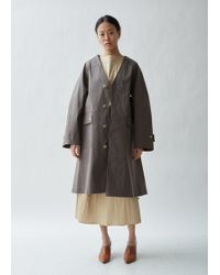 Mackintosh - Belted Collarless Trench Coat - Lyst