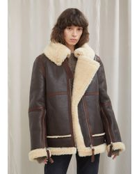 Acne Studios - Leather And Shearling Velocité Jacket - Lyst
