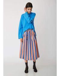 Marni - Striped Cotton Mid-length Skirt - Lyst