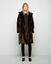 Organic By John Patrick - Faux Fur Blanket Coat - Lyst