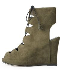 Opening Ceremony - Lace-up Open Toe Wedge - Lyst