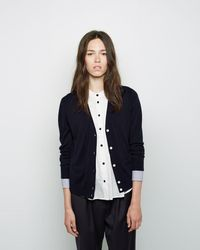 Band of Outsiders - Shirting Cuff Cashmere Cardigan - Lyst