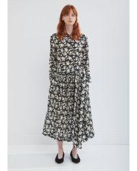 Sara Lanzi - Floral Shirt Dress - Lyst