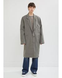6397 - Felted Single Breasted Coat - Lyst