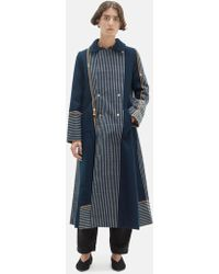 Péro - Chequered Wool Reversible Coat - Lyst