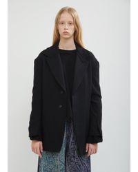 Y's Yohji Yamamoto - Raw Collar Wool Blazer - Lyst