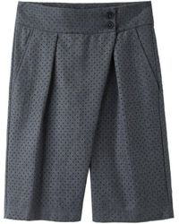 Damir Doma - Pecun Perforated Wool Shorts - Rtv - Lyst