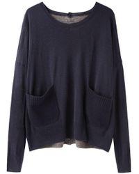 Tsumori Chisato - Contrast Back Pullover - Lyst