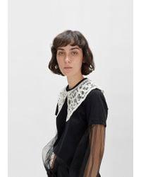 Junya Watanabe - Lace Appliqué Collar - Lyst