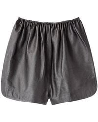 A Detacher | Pony Leather Shorts | Lyst
