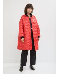 Hache - Quilted Rib Collar Bomber Jacket - Lyst
