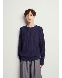 Blue Blue Japan - Stripe Ridge Pattern Sweater - Lyst