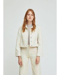 Eckhaus Latta - Cropped Denim Jacket - Lyst