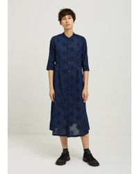Blue Blue Japan - Hand Dyed Leaf Circle Embroidery Dress - Lyst