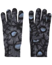KENZO - Floral Knit Gloves - Lyst