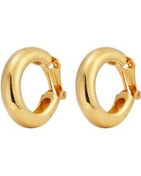 Kenneth Jay Lane - Tube Hoop Clip Earrings - Lyst