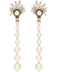 Erickson Beamon - 'sincerely Yours' Swarovski Crystal Faux Pearl Drop Earrings - Lyst