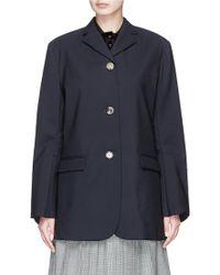 ShuShu/Tong - Scalloped Cuff Oversized Wool Blend Blazer - Lyst