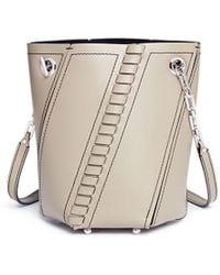 Proenza Schouler - 'hex' Mini Leather Panel Bucket Bag - Lyst
