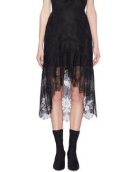 Alice + Olivia - 'triss' Chantilly Lace High-low Skirt - Lyst