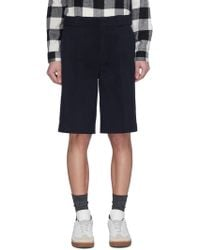 Alexander Wang - Leather Trim Twill Shorts - Lyst