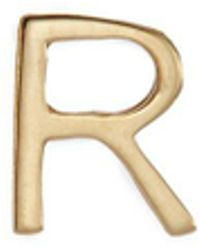Loquet London - 18k Yellow Gold Letter Charm – R - Lyst