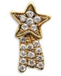 Loquet London - 18k Yellow Gold Diamond Shooting Star Charm - Make A Wish - Lyst