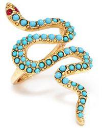 Kenneth Jay Lane - Embellished Snake Ring - Lyst