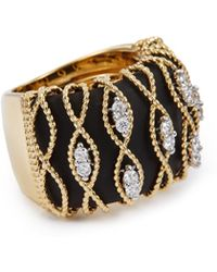 Roberto Coin - 'barocco' Diamond 18k Yellow Gold Ring - Lyst