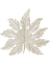 Buccellati - 18k White Gold Leaf Brooch - Lyst
