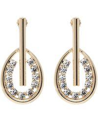 Anton Heunis - Swarovski Crystal Bar Hoop Drop Earrings - Lyst
