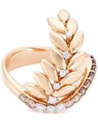 FerrariFirenze - 'arya' Diamond 18k Rose Gold Vine Ring - Lyst