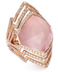 Stephen Webster - 'crystal Haze' Diamond Crystal 18k Rose Gold Cutout Ring - Lyst