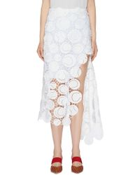 Monse - Split Hem Tennis Ball Guipure Lace Skirt - Lyst