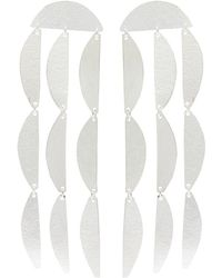 Annie Costello Brown - 'mini Rain' Silver Geometric Drop Earrings - Lyst