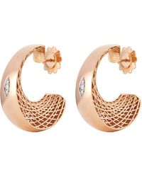 Roberto Coin - 'golden Gate' Diamond Crescent Drop Earrings - Lyst