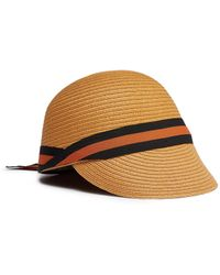 f7dbcfcc6a3 Lyst - Sensi Studio Vinyl Trim Classic Panama Hat in White