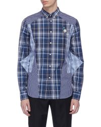 Alexander McQueen - Skull Rose Embroidered Mix Check Patchwork Shirt - Lyst