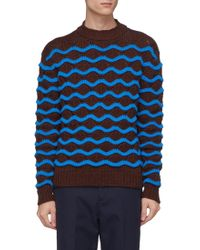 Acne Studios - Chunky Wavy Stripe Wool Sweater - Lyst