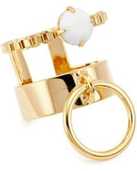 Joomi Lim - 'grandmistress Flash' Two Row Band Ring - Lyst