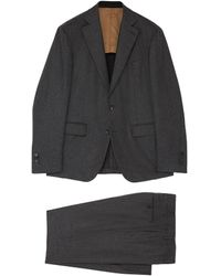 Lardini - Check Plaid Loro Piana Wool-cashmere Suit - Lyst