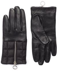 Aristide - Padded Panel Leather Gloves - Lyst