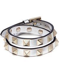Valentino | 'rockstud' Double Wrap Bracelet | Lyst