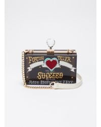 Cecilia Ma - 'succeed' Glass Crystal Charm Acrylic Box Clutch - Lyst